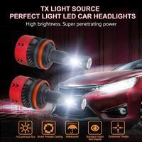 2Pcs H8 DC 11 30V 6000K 4800LM 35W LED Car Headlight Fog Head Lamp Bulbs Fog lamp Automobiles Suitable for Motorcycles Boats New