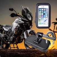 À prova de chuva motocicleta gps suporte suporte para samsung s20 s10 iphone 11 bicicleta saco do telefone titular moto suporte para celular