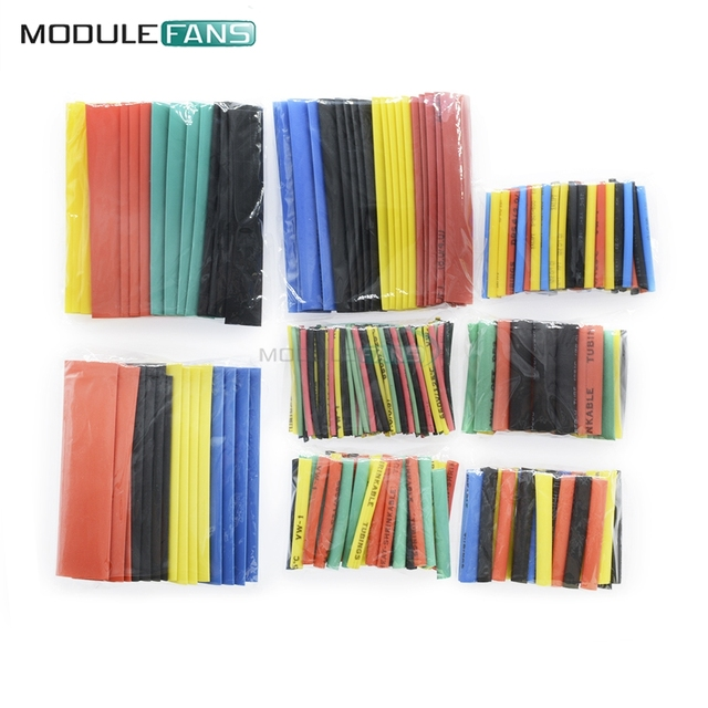 8ce80dc9f1b 328Pcs Car Electrical Cable Tube kits Heat Shrink Tube Tubing Wrap Sleeve  Assorted 8 Sizes Mixed
