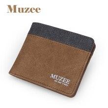 Muzee мужчина бумажник бренд кошелек новинка кошелек смешивать Стиль два Цвета варианты кошелек