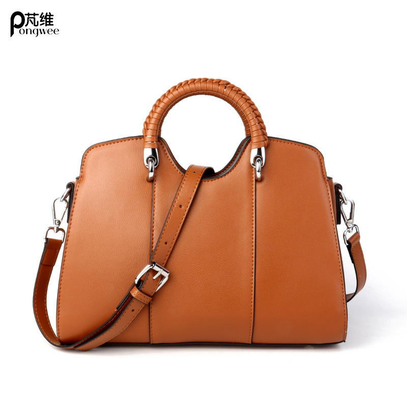 PONG  WEE  2018 New Genuine Cow Leather Womens Shell Tote Bag  Ladies Handbag Messenger Shoulder PackagesPONG  WEE  2018 New Genuine Cow Leather Womens Shell Tote Bag  Ladies Handbag Messenger Shoulder Packages