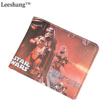 Marvel Wallet Women Card Holder Star Wars Wallet Unisex Short Leather Purse Star Wars Mini Small Wallets Card Holder Money Bag