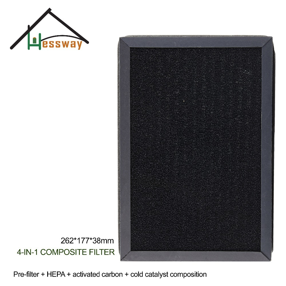4 in 1 Composite Filter Air Purifier Parts with Size 260X177X38mm