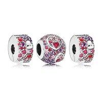 2019 New Authentic 925 Sterling Silver Asymmetric Hearts of Love Charm Pack Bracelet Fit Pandora Bracelet DIY Jewelry Bangle