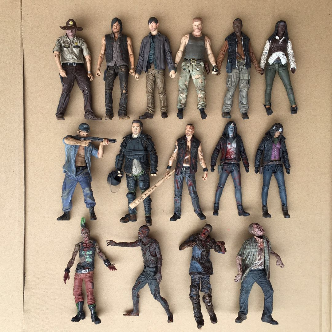1pcs Original Garage Kit The Walking Dead - Rick, Daryl, Carl, Negan Action Figures Joints Doll Collectible Model Loose Toy Hot