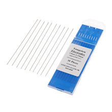 DRELD 10pcs TIG Welding Tungsten Electrode Electrodes 1.0mm WL15 Lanthanated Tig Rods Machine Accessories