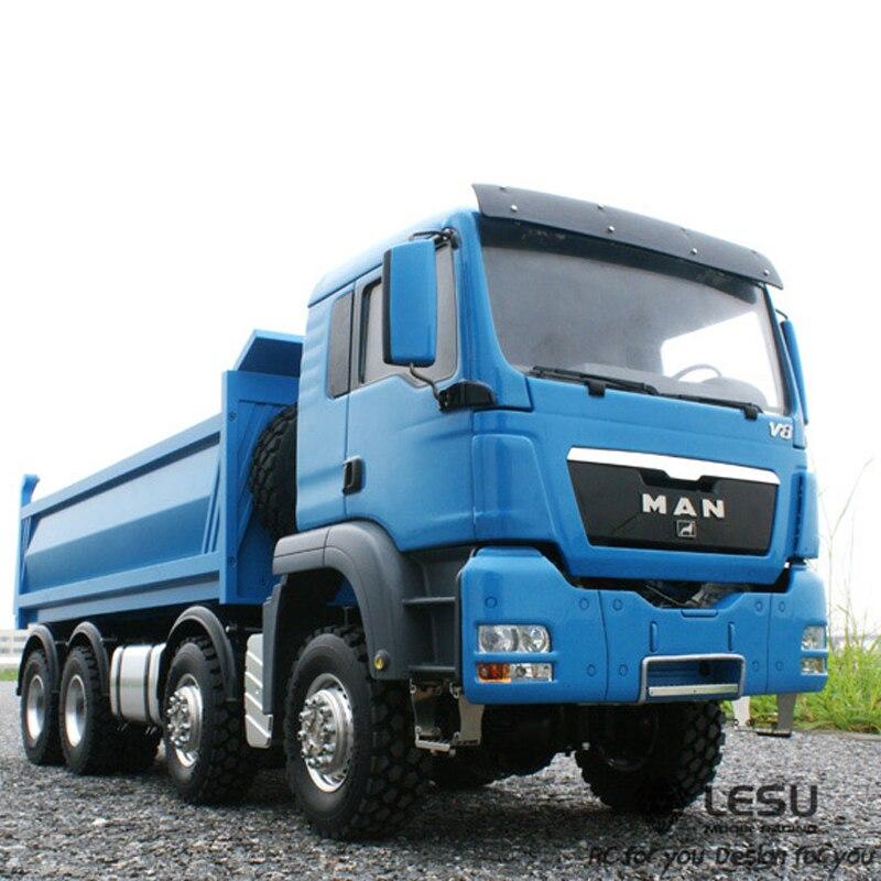 1/14 del camión volquete hidráulico hombre (TGS) 8X8 coche camión volquete modelo alto par LS-20130011 RCLESU Tamiya camión