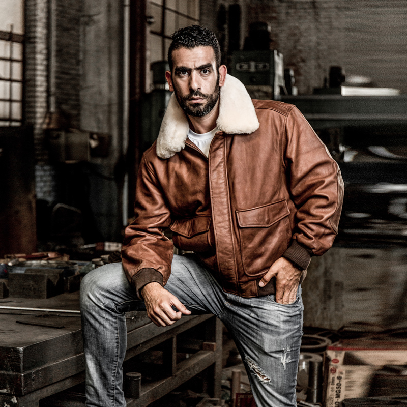 HTB1708tFpGWBuNjy0Fbq6z4sXXaI AVIREX FLY 2018 Genuine Leather jacket Men Bomber Jacket Fur Collar Cowskin Short Air Force Flight Jacke Vintage Winter Coat