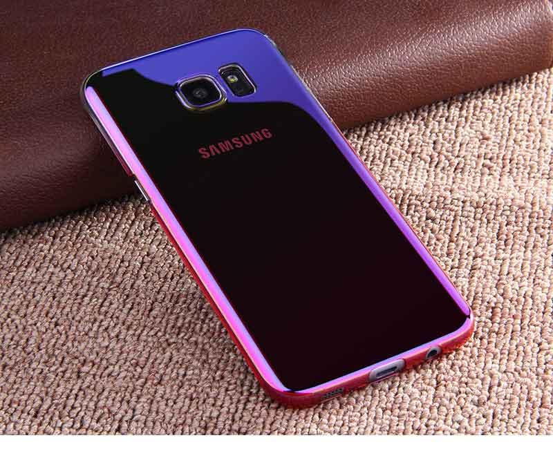 Kolorowe case do samsung galaxy s7 edge s8 plus s8 case gradientu kolor pc mocno plecy pokrywa dla samsung s8 s7 krawędzi case artisome 22