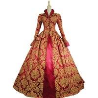 Цельнокроеное платье Готическая Лолита классические/Традиционные Лолита Винтаж вдохновили викторианской Rococo средневековой Косплэй Лолит