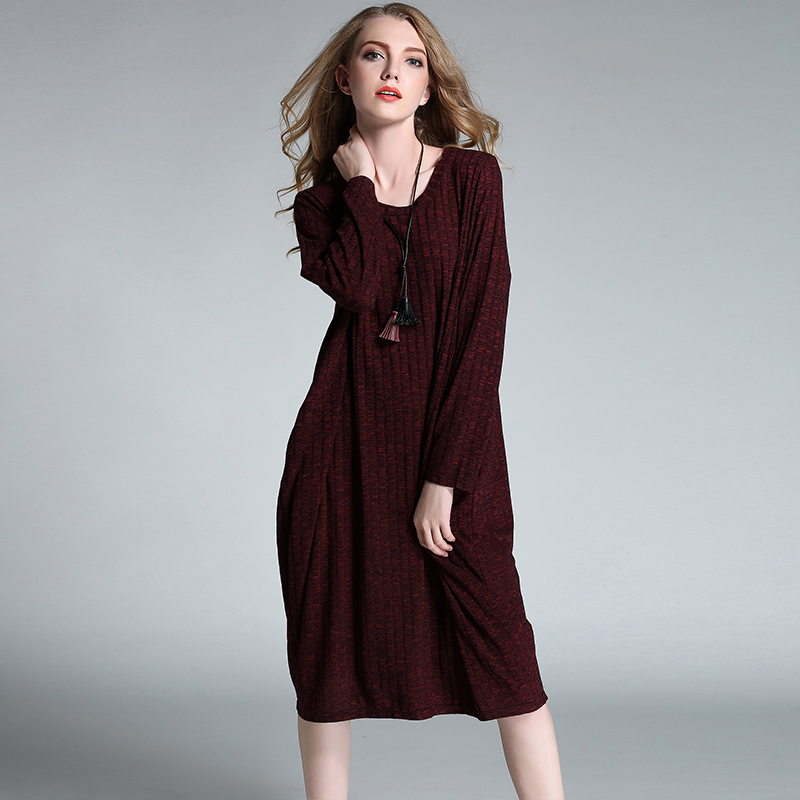 winter dress women plus size high quality 2017 woman brands sweater dress long sleeve party vintage casual autumn dresses