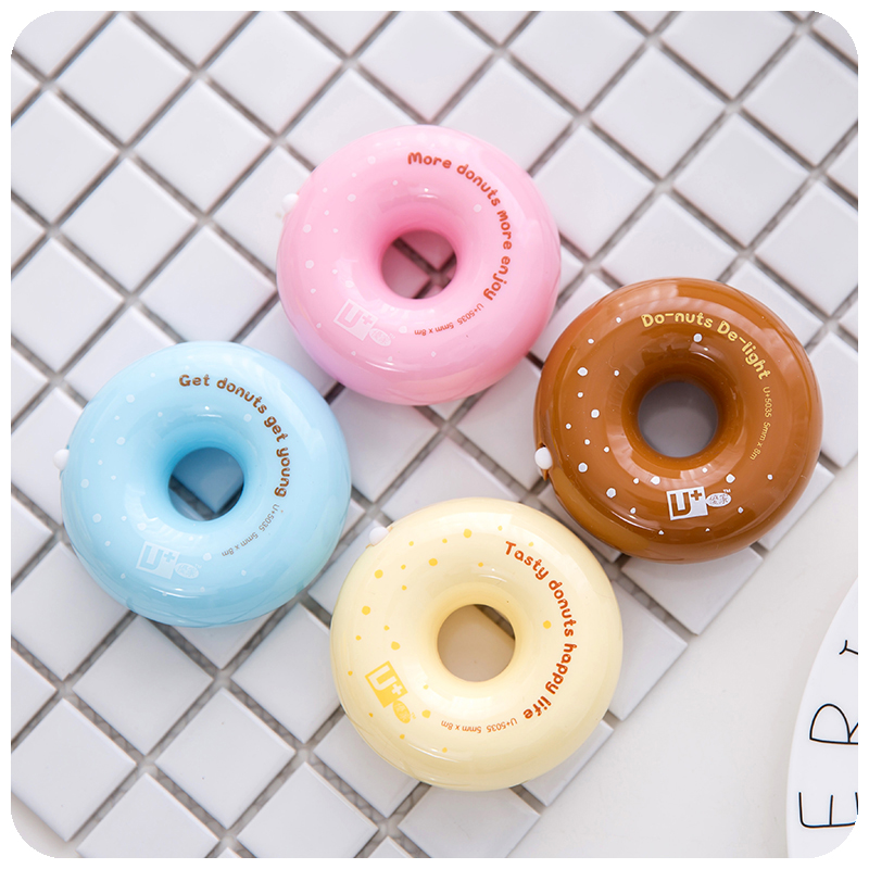 8 Pcs/Lot Tasty Donuts Correction Tape 5mm*8m White Corrective Tape Cute Candy Corrections Officer Office School Supplies F494