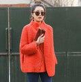 2017 outono e inverno Nova roupa hot sale manga morcego cardigan de tricô agulha xale solto casaco grosso mulheres camisola a1373