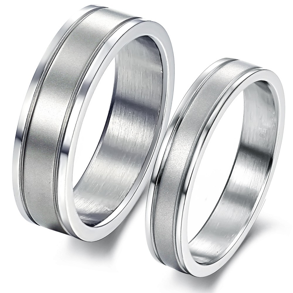 Cheap Price Promotion 316l Stainless Steel Classic Couple Lovers