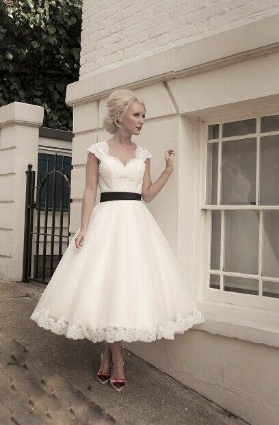 Korte vintage trouwjurk