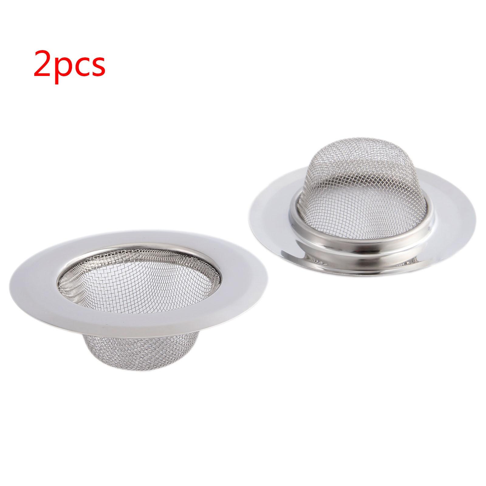 2Pcs Kitchen Sink Strainer 9CM Stainless Steel Bathtub Hair Catcher Stopper Bathroom Shower Drain Hole Filter Sink Strainer