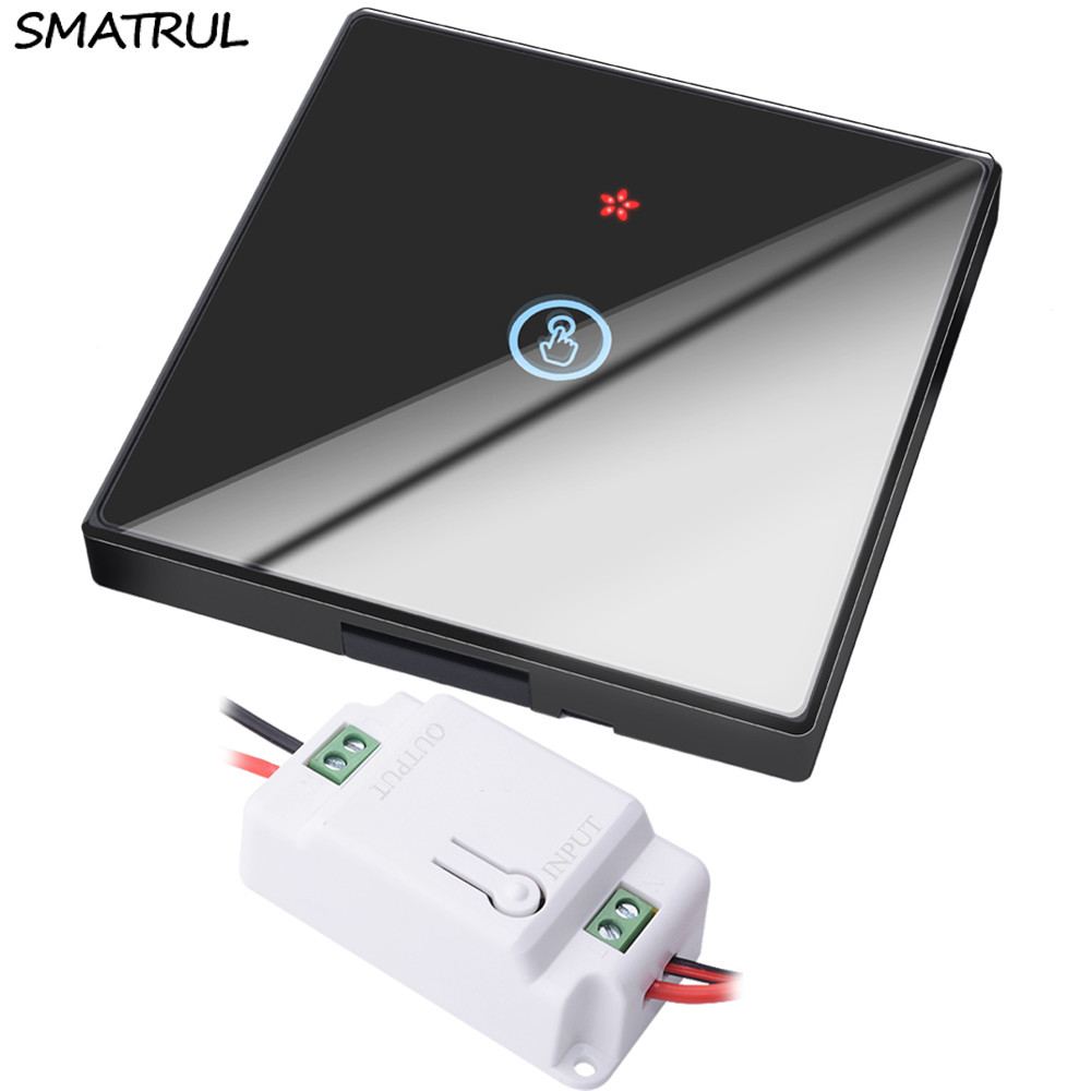 SMATRUL 1 gang smart Wireless touch Switch Light Glass Screen RF Remote Control 433MHZ Wall Panel button 110V 220V led LampSMATRUL 1 gang smart Wireless touch Switch Light Glass Screen RF Remote Control 433MHZ Wall Panel button 110V 220V led Lamp