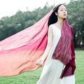 High quality new pinstripe cotton and linen scarf 200 cm * 95 cm Japanese literary wind and fresh color Cape amphibious