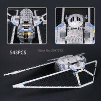2017 כלי נשק אוויר סדרת מלחמת הכוכבים LegoINGlys תואמת חמה לבני התקפת קיסרי לוחם בניין בלוקים צעצועים לילדים