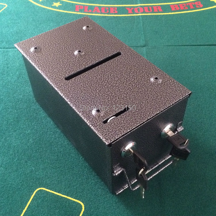 ФОТО TA-008 Horizontal vertical pumping water tank coin box cashbooks box  for professional poker table