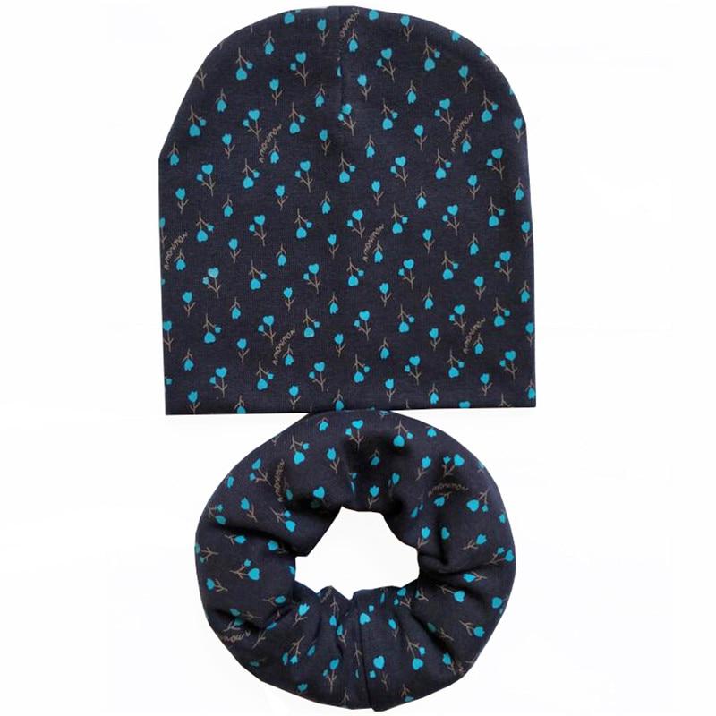 New Autumn Winter Cotton Baby Hat Sets Crochet Children Scarf Hat Set Girls Hat Scarf Set Fashion Boys Child Cap Scarf