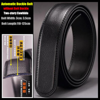 Special Offer Black 3cm 3 5cm Width Men Genuine Leather Belts Two Story Cowhide Automatic Buckle