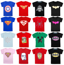 2017 New!children clothes boys girls unisex t shirt multicolor superhero costume t-shirts 100% cotton children's t-shirt