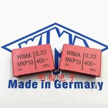 20pcs/50pcs New German Capacitor WIMA MKP10 400V 0.33UF 330NF 334 Pitch 22.5MM free shipping 50pcs cbb capacitor 630v 474 470nf 0 47uf pitch 20mm
