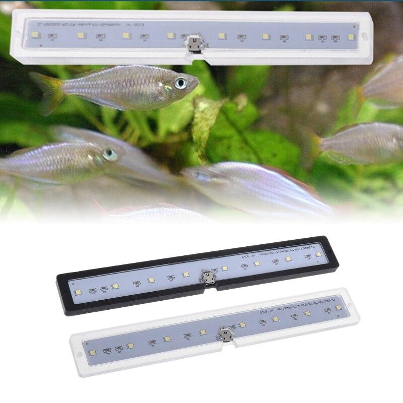 New Fish Tank Lamp LED Natural Lights Thin USB Charging Aquarium Supply Reptile Case