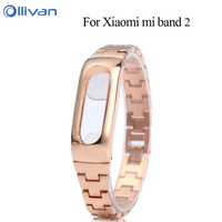 Metal Strap For Xiaomi Mi Band 2 Straps Screwless Stainless Steel Bracelet For Smart Wristband Replace