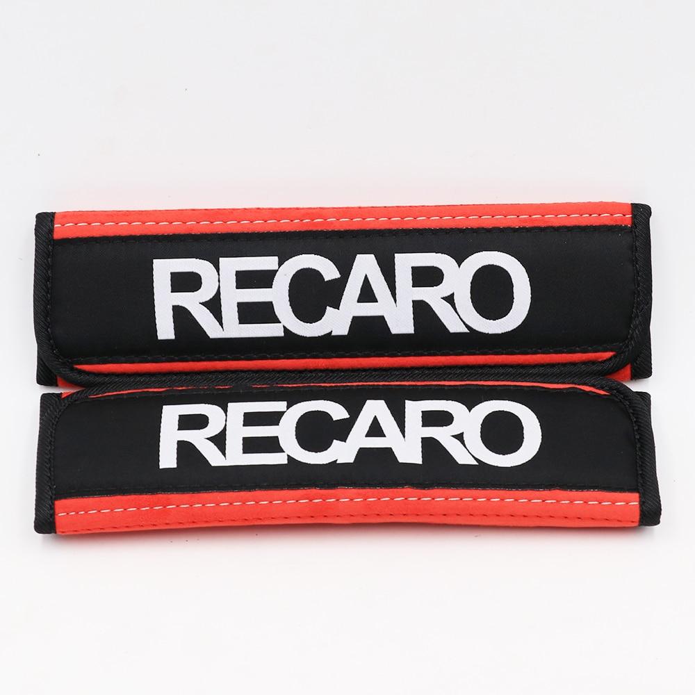 2 Pack// Pair Carbon Fiber Car Safety Seat Belt Strap Shoulder Cover Harness Pads