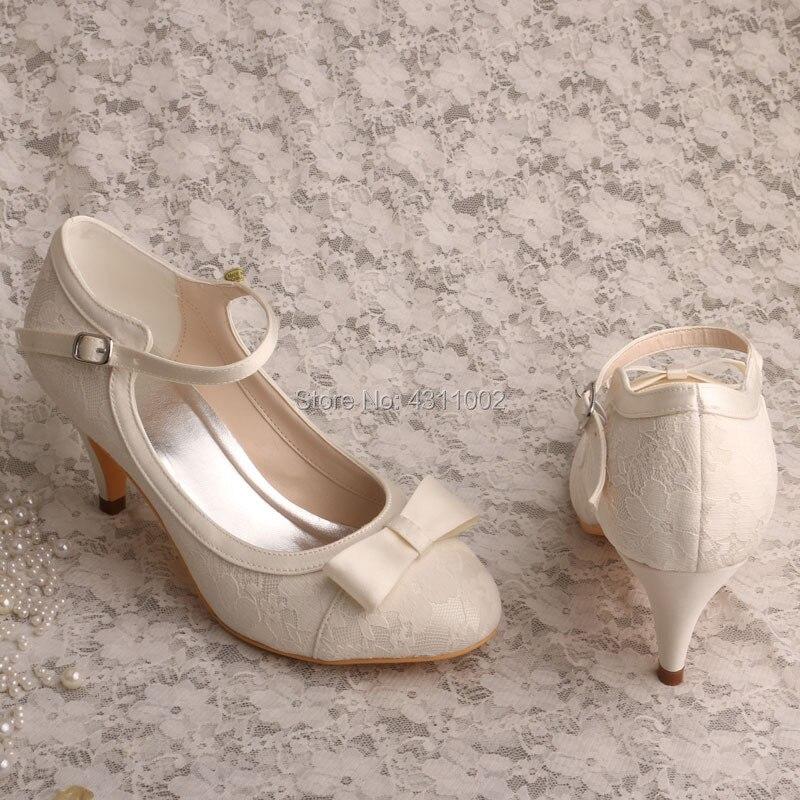 La Mariage Chaussures Mariée Chaton Mary Ivory Ivoire Jane Pour Mère Talon De Dentelle 1SwtAntqg