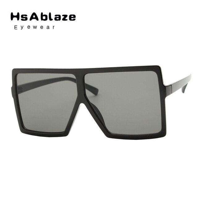 85bcd3677e HsAblaze Eyewear Retro Square Sunglasses Men Women Brand Designer Glasses  ovsesized big frame Shades UV Protection Gafas
