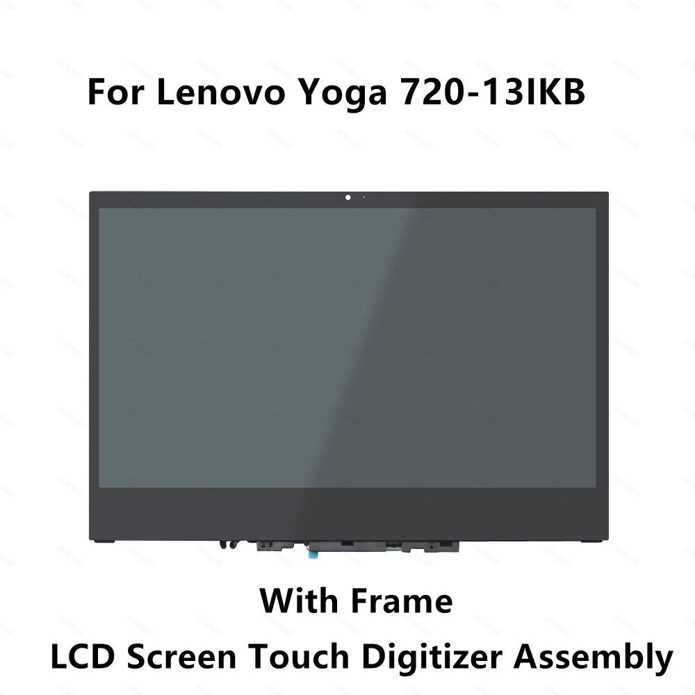 <+>  13 3 ' Lenovo Yoga 720-13IKB 80X6 Yoga 720-13 720 13 FHD ЖК-дисплей с сенсорным экраном дигитайзер  ★