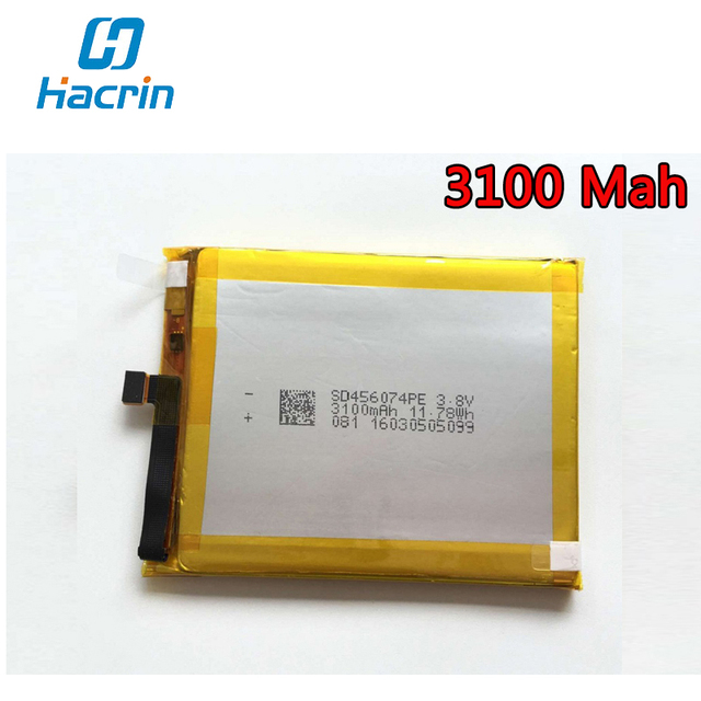 Hacrin For Vernee Apollo Lite Battery 100% New Larger Capacity 3100mAh Backup Battery Replacement For Vernee Apollo Lite
