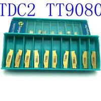 """כלי cnc 20PCS מחרטת להב קרביד TT9080 2 מ""""מ כלי TDC2 ניקור כלי חיתוך כלי מחרטת CNC (1)"""