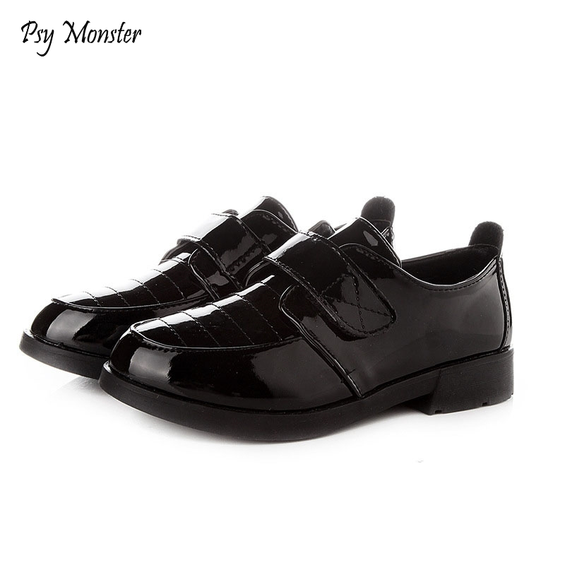 Boys Formalne skórzane buty Kids Performance Party Czarne białe buty Children Chaussure Enfant Hook ninos Leather Shoes C154