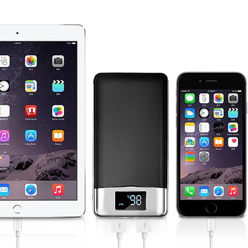 Xiaomi MI iphone XS huawei usbバッテリーバンクチャージャー用30000mahパワーバンク外部バッテリーPoverBank 2 USB LED Powerbankポータブル携帯電話充電器