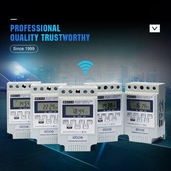 OBOS aparência bonita 220 V interruptor do temporizador temporizador semanal digital branco com 10 vezes em/off por dia intervalo definido 1 min-168 H