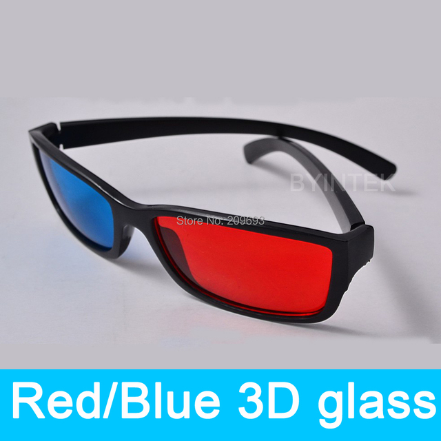 68c22a6c66 Mejor Calidad 3D Rojo Azul Gafas 3D para DVD Dimensional Movie Cine Juego  LED Mini Proyector