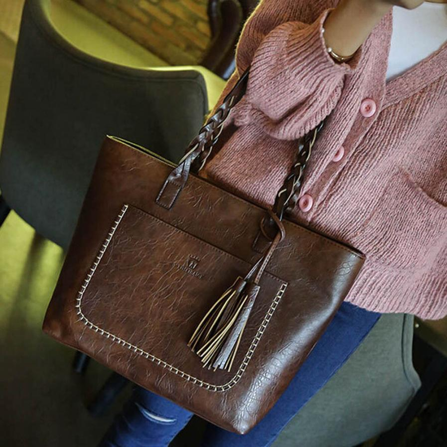 MOLAVE Shoulder Bags high quality Leather lady Tassels solid Satchel Tote women shoulder bags crossbody bag JAN27 molave shoulder bag new high quality leather fashion messenger satchel tote crossbody handbag shoulder bag women feb27