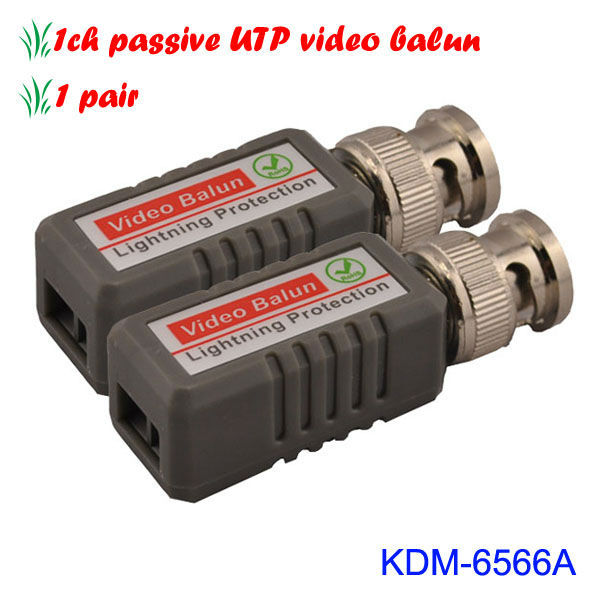 A Pair 1ch Passive UTP Video Balun Full-motion Connection Camera or DVR/quad
