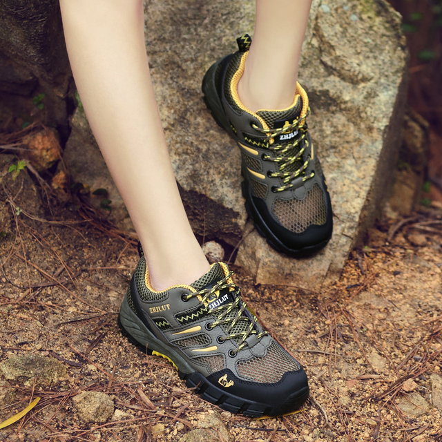 TKN 2019 Women's Outdoor Shoes Climbing Hiking Sport Breathable Leather Sneakers Woman Trekking Shoes Outdoor Walking Shoes 702