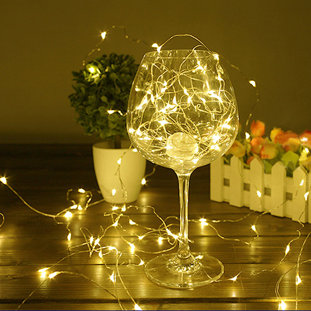 Copper String Lights Diy : 20LEDs 2M LED Copper Wire String lights Battery Powered For DIY Fairy Christmas Tree Holiday ...