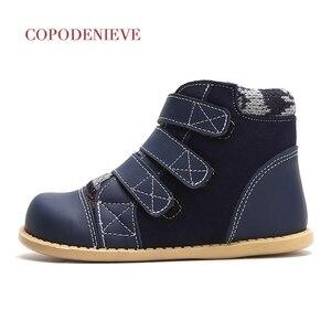 Image 3 - COPODENIEVE חורף ילדי עור אמיתי שלג מגפי עיבוי בנות חם אמצע עגל כותנה נעליים