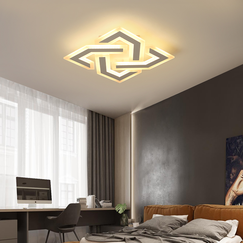 VEIHAO New Acrylic modern led living room dining room bedroom ceiling light Plafon led home lighting ceiling lamp home lighting