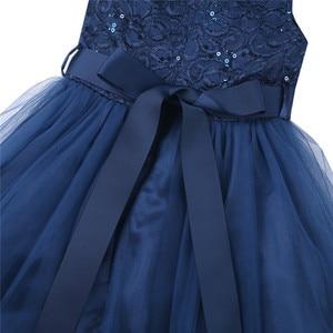 Image 5 - IEFiEL אלגנטי נצנצים ילדים פעוט פרח בנות תחרה שמלת תחרות חתונה כלה ילדי שושבינה נסיכת טול שמלה