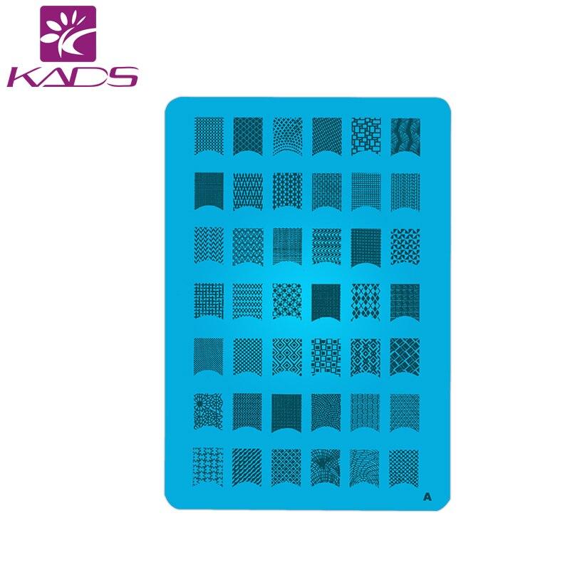 En gros nouveau A-T série XL taille moyenne timbre nail art estampage Image plaque impression Nail Art grand grand modèle bricolage