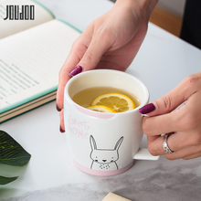 JOUDOO 320ML Cute Cartoon Ceramic Milk Mug Creative Animal High Quality Cup Office Home Coffee Tea Water Breakfast Cups 35