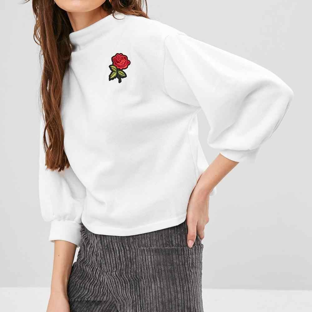 Женская толстовка с длинным рукавом и круглым вырезом с принтом розы, пуловер с ремешками, толстовка с капюшоном, рубашки, топ, Толстовка harajuku Hot TS3
